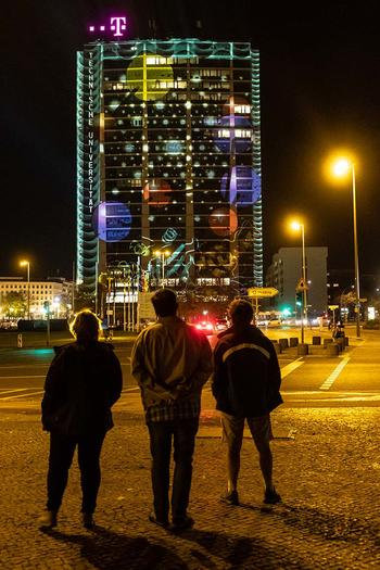 Festival of Lights at the Telefunken Tower, Ernst Reuter Platz Berlin (copyright: Christian Jungeblodt)
