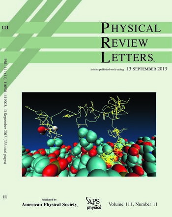 Cover page of Phys. Rev. Lett. (Sep. 2013)